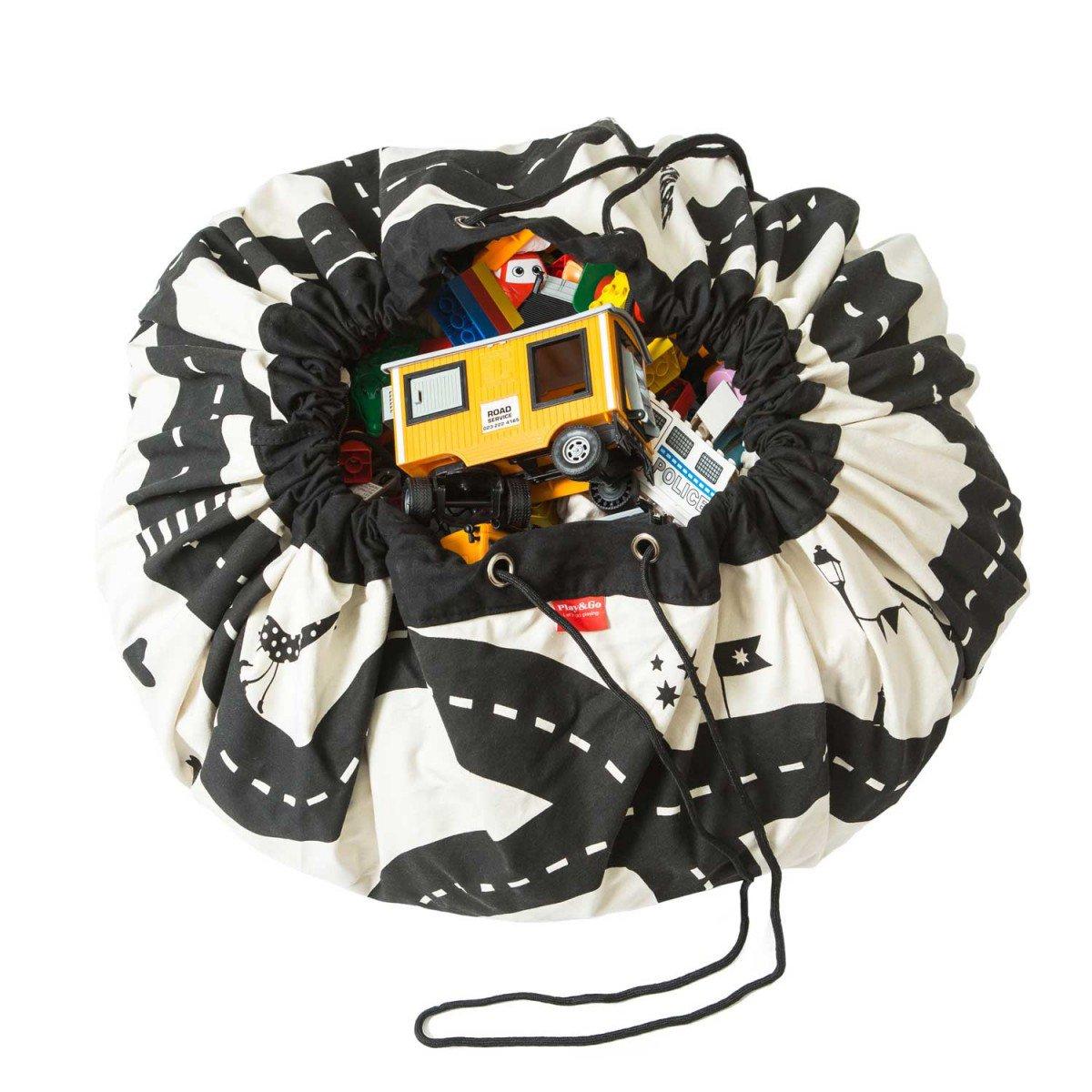 Play & Go PG729 2 in 1 Storage Bag and Playmats, Roadmap, 140cm D'Artagnan Distribution