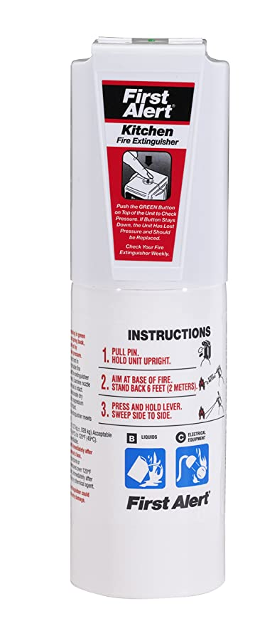 First Alert KITCHEN5 Kitchen Fire Extinguisher, White - - Amazon.com