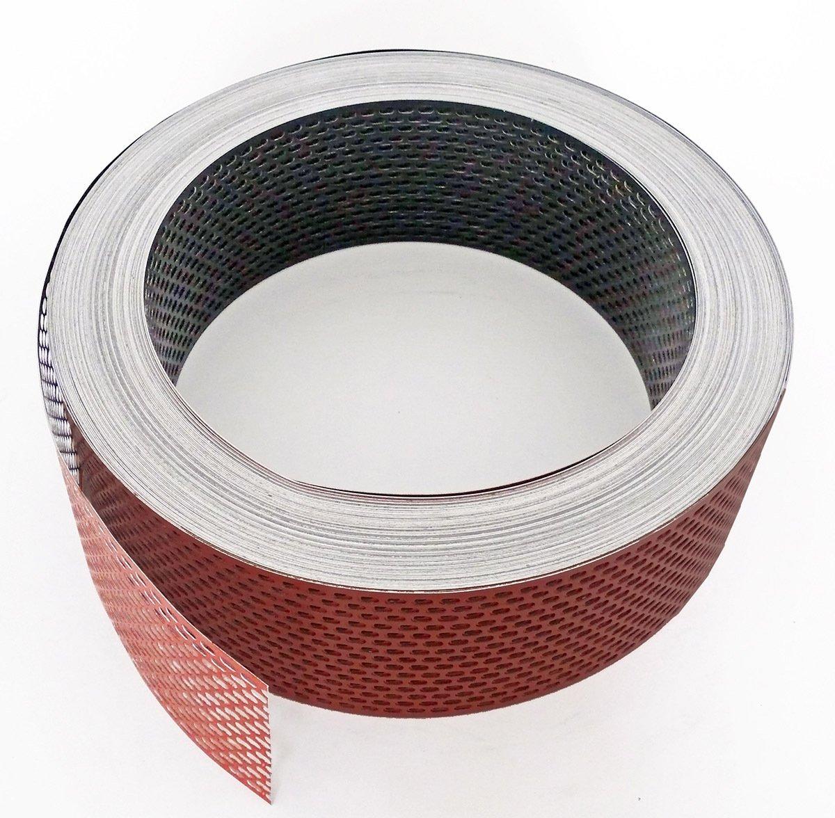 Aluminium gerollt Fassadenprofile L/üftungsstreifen ziegelrot scwarz 6000 cm x 100 mm