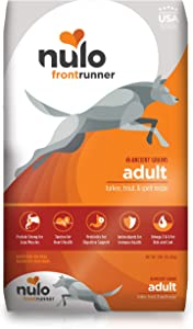 Nulo Frontrunner Dry Dog Food for Adult Dogs - Grain Inclusive Recipe with Turkey, Trout, & Spelt - All Natural Pet Foods with High Taurine Levels - Animal Protein for Lean Strong Muscles