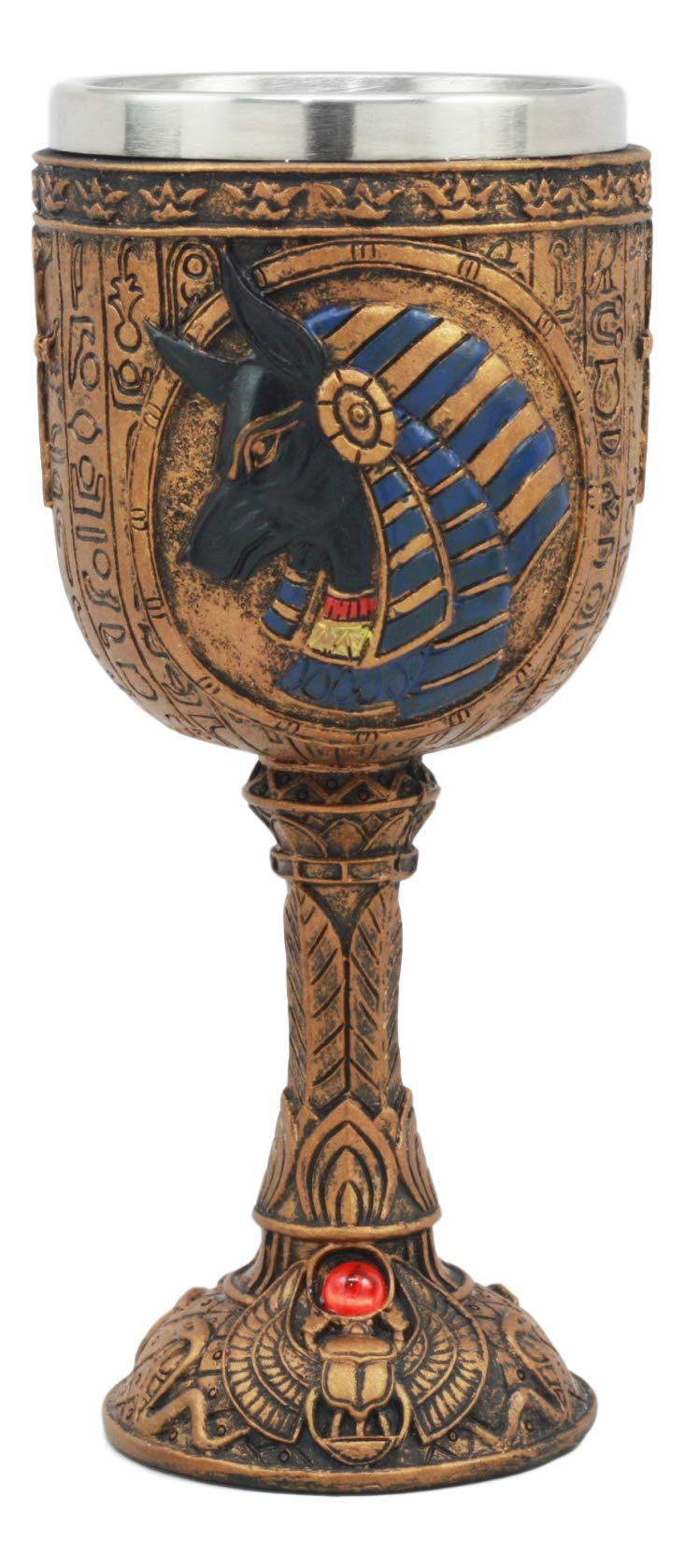 Ebros Egyptian Anubis Wine Goblet God Of The Dead And Afterlife Anubis Wine Chalice 6oz