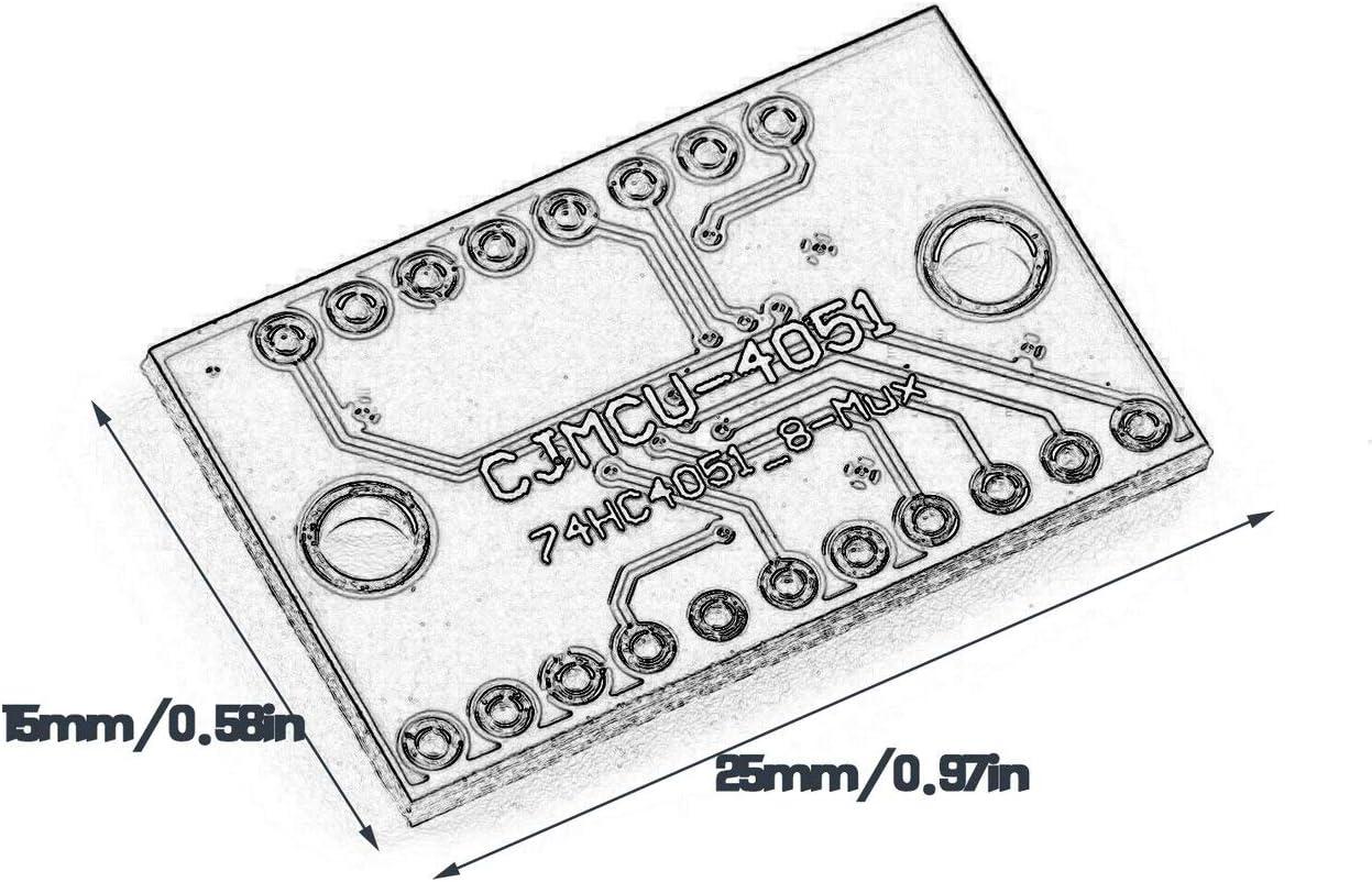 Biyi Cjmcu-4051 74HC4051 8-Kanal-Analog-Multiplexer-Modul lila ...