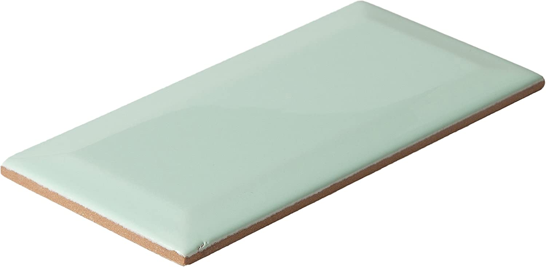 Metro Subway Tile Pastel Green Wall Gloss Tiles 15 Cm Kitchen Bathroom Tile Amazon Co Uk Diy Tools
