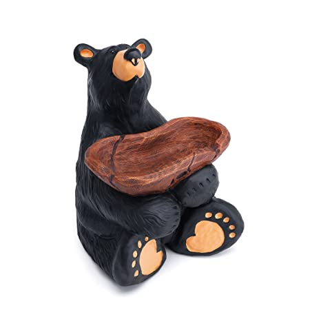 DEMDACO Jeeves Bear Black Bear 6.5 x 4 Hand-cast Resin Figurine Sculpture