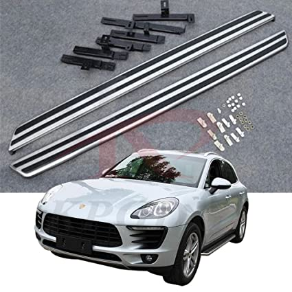 Fit for Macan S Turbo 2014-2018 Aluminium Running Boards Side Step Door Side Bars