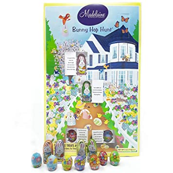 Madelaine Easter Bunny Hop Hunt Game Features Assorted Solid Milk  Chocolate