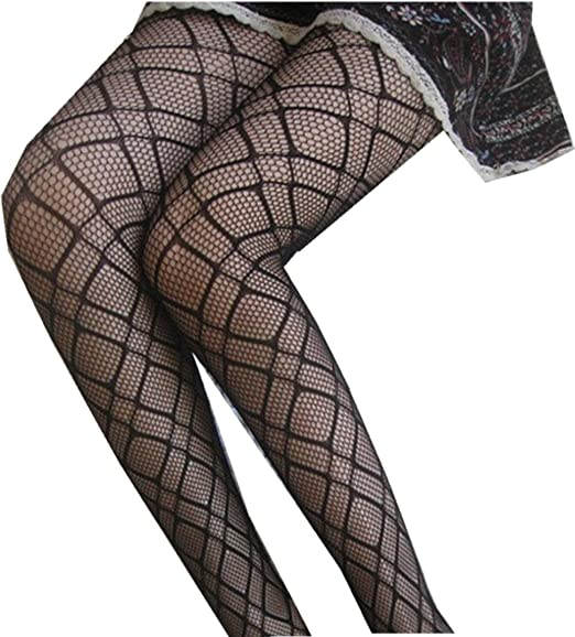 4790d7a3a633ce Image Unavailable. Image not available for. Color: SUPPION Fashion Women's  Net Fishnet Bodystockings Pattern Pantyhose Tights Stockings