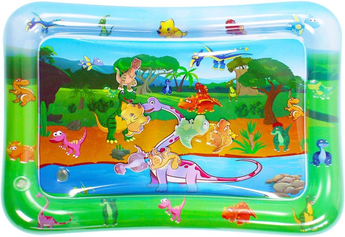 Luchild Alfombra Inflable del Agua para Bebé Inflable Tapete de Bebés Estera de Agua de PVC Entretenimiento de Agua y la Estimulación del Crecimiento de Bebé