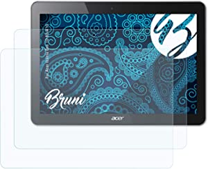 Bruni Screen Protector Compatible with Acer Iconia One 10 B3-A10 Protector Film, Crystal Clear Protective Film (2X)