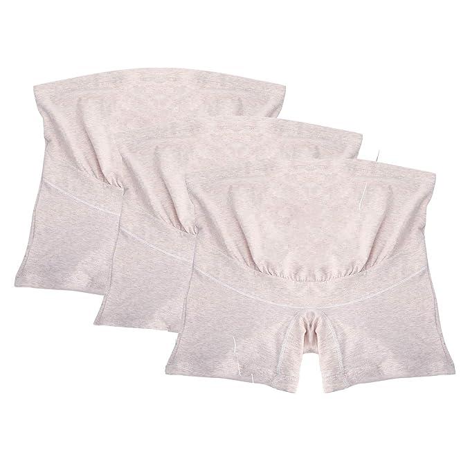 UTOVME 3 PCS Mujeres Maternidad Bragas Calzoncillo Ropa Interior Embarazada Ajustable con Cintura Alta de Algodón