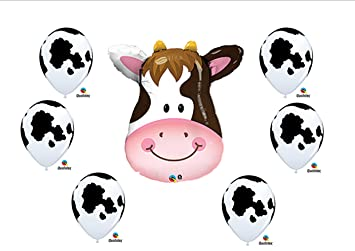 Cow print Birthday Party Baby Shower Farm Balloons Decorations Supplies  sc 1 st  Amazon.com & Amazon.com: Cow print Birthday Party Baby Shower Farm Balloons ...
