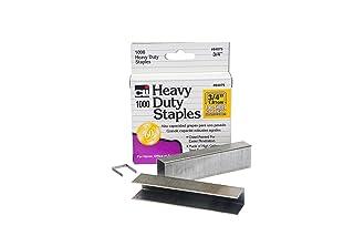 Charles Leonard Inc, Staples, heavy duty, 1/10,2cm, lunghezza gamba, Carbon Steel, 1000/Box (84025) Resistente 1000/Box, 3/8 inch Silver 2cm 84038