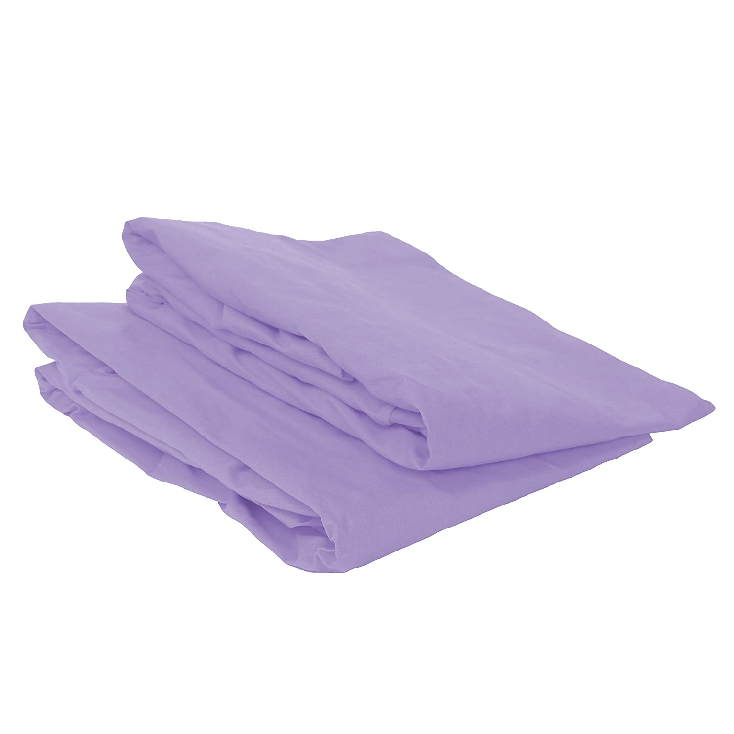 Lilac 2 Count Bacati Mix and Match Crib Fitted Sheet