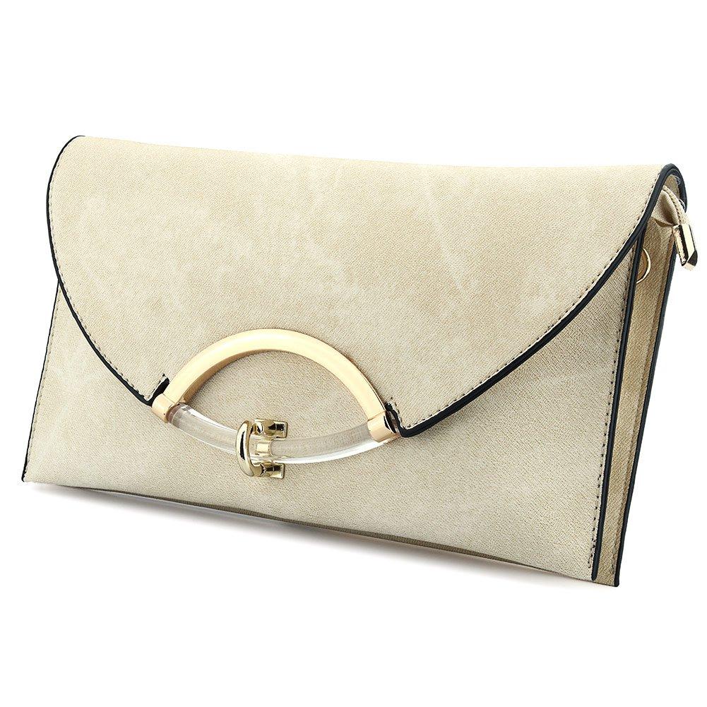 74a726befce7 SSMY Women Leather Evening Clutch Bag Shoulder Handbag Messenger Envelope  Bags with Adjustable Strap  Handbags  Amazon.com