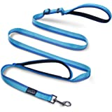 Double Handle Dog Leash, PETBABA Adjustable 6ft Long Dog Leash Reflective with Traffic Handle For Dogs