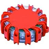 M&H-24 Warnblinkleuchte Led Warnleuchte Auto - ideal als Ergänzung zum Warndreieck & Warnweste mit Magnet und 16 LED fürs Auto Notfall Pannenhilfe (1 Stück)