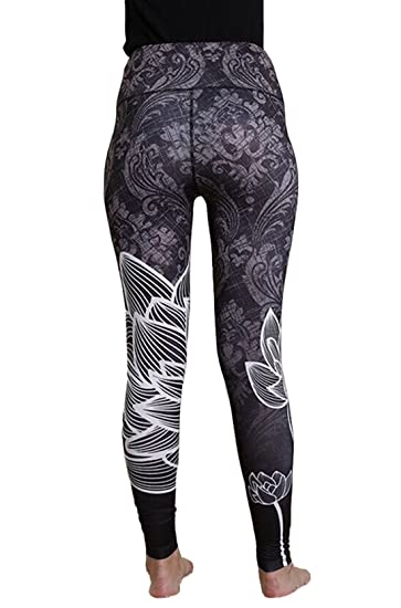430cd1d078 Image Unavailable. Image not available for. Color: New Lotus Print Yoga  Leggings ...