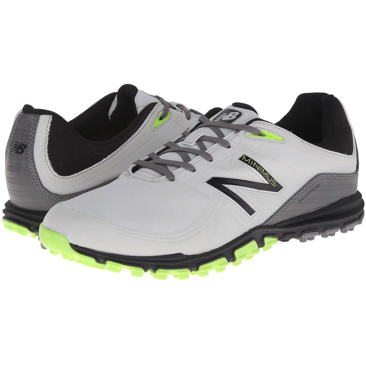 New Balance Men's Minimus Golf Shoe, Grey/Green, 11.5 2E US