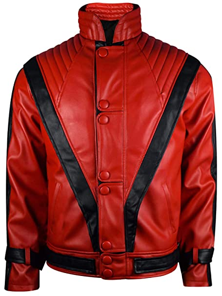 Amazon.com: MJ Thriller Michael Jackson - Chaqueta de piel ...