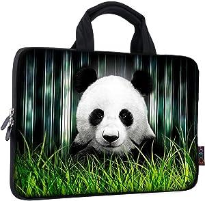 ICOLOR 11 11.6 12 12.1 12.5 inch Laptop Carrying Bag Chromebook Case Notebook Ultrabook Bag Tablet Cover Neoprene Laptop Sleeve case chromebook Sleeve with Handle Kids Boys Girls Panda