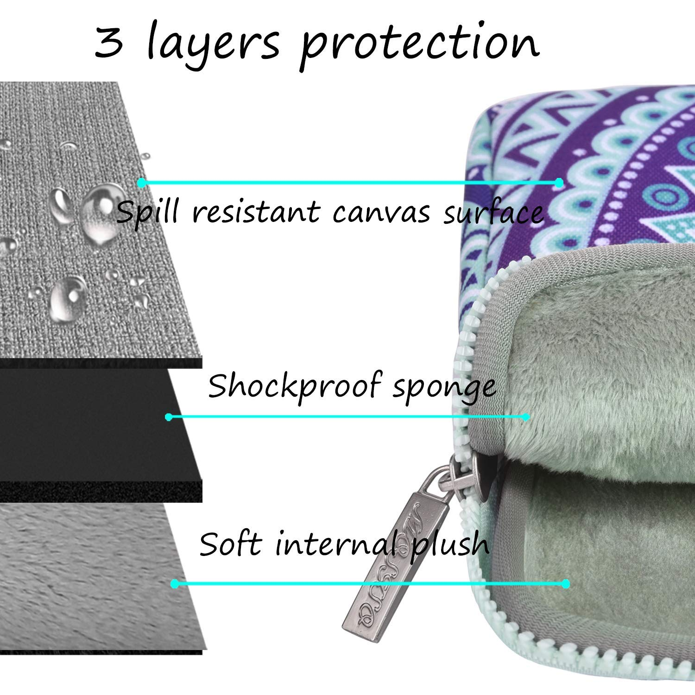 Laptop Sleeve Toile Tissu Mandala Motif avec Petite Pochette Bleu ...