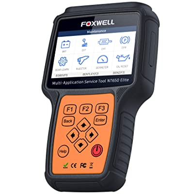 FOXWELL NT650 Elite Car OBD2 Scanner Automotive OBD II ABS Airbag Code Reader with SAS EPB DPF EPS CVT TPMS TPS Battery Registeration Oil Light Reset Auto Special Service Diagnostic Scan Tool: Automotive