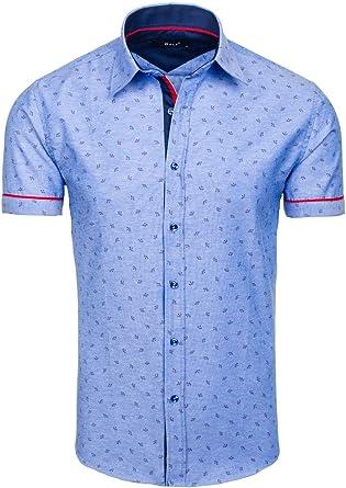 BOLF - Camisa casual - Manga Larga - para hombre Blau_6520 Medium: Amazon.es: Ropa y accesorios