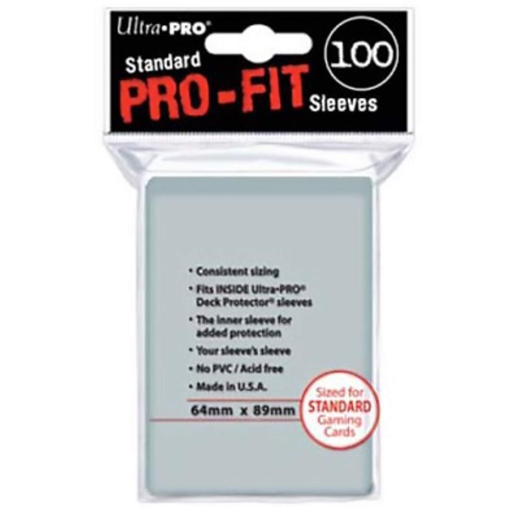 YuGiOh Gaming Cards 200 Ultra PRO Pro Fit Inner Sleeves Small Size