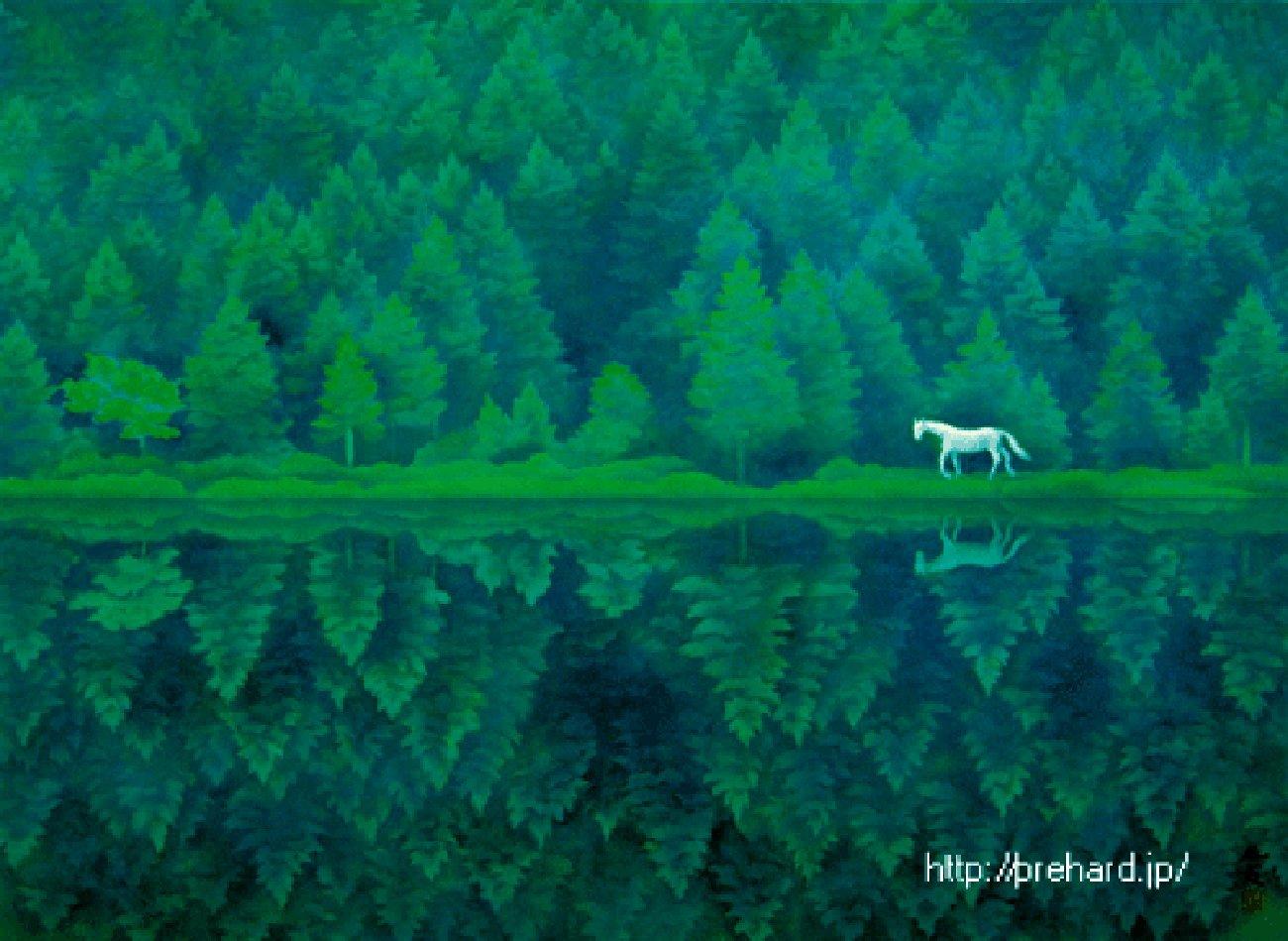 「東山魁夷 緑響く」の画像検索結果
