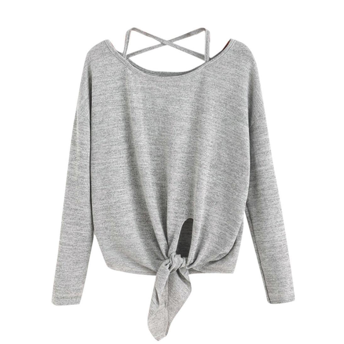 LSAltd Casual Camicia donna Maglietta donne Invernale Felpa Oversize Sportiva Camicetta Maglia maniche lunghe T Shirt Sportiva Camicetta Maglia Maniche Lunghe T Shirt