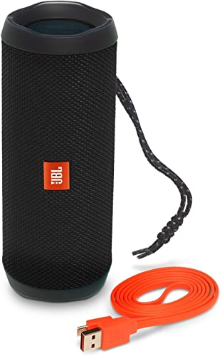 JBL Flip 4 IPX7 Waterproof Wireless Portable Bluetooth Rechargeable USB Speaker Black Renewed
