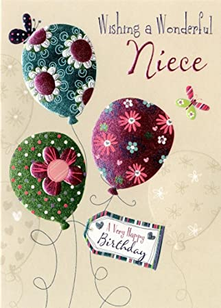 Wonderful Niece Birthday Greeting Card Second Nature Daydreams Cards