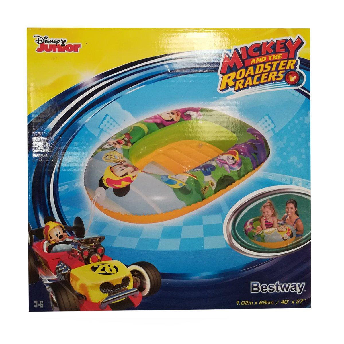 Dabuty Online, S.L. Barca Hinchable Bote para Niños y Niñas Piscina Disney Racers. Medidas 102 x 69 cm: Amazon.es: Hogar