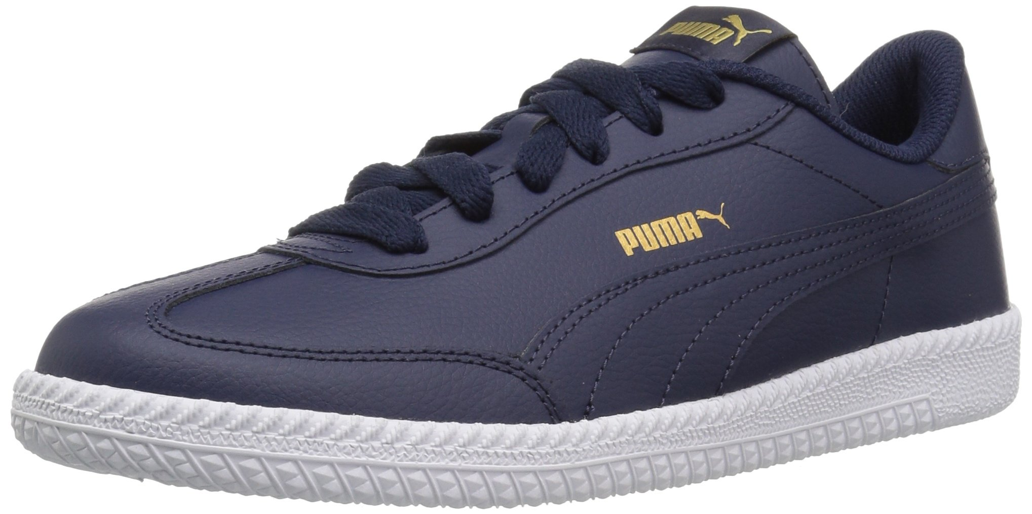 PUMA Men's Astro Cup Leather Sneaker, Peacoat-Peacoat, 14 M US
