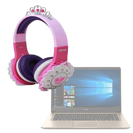 DURAGADGET Divertidos Auriculares De Princesa para Portátil Huawei MateBook D Sonido Y Conexión Jack De 3.5