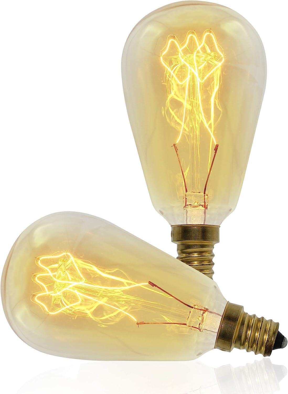 240V 120V Nostalgic LED Chandelier Light Bulbs With Edison