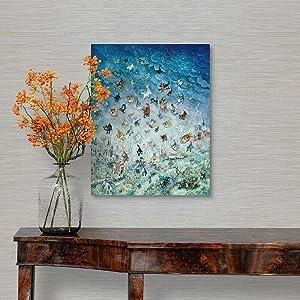Tamengi Raining Cats and Dogs Canvas Framed Wall Art Print, Dog Home Decor 12