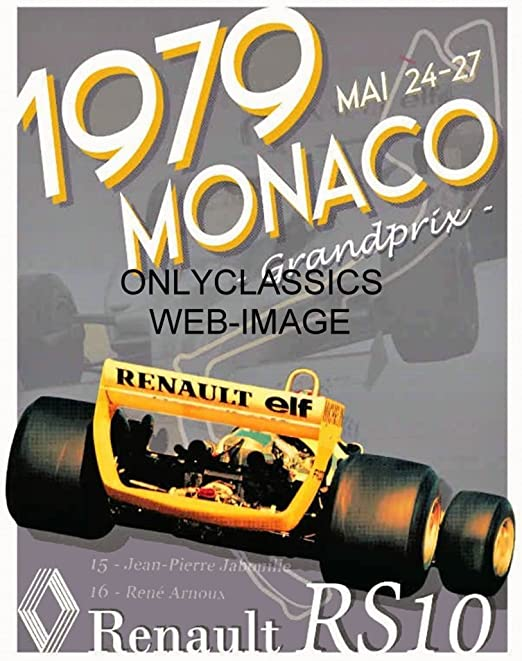 1967 AUTO RACING MONACO GRAND PRIX FORMULA ONE 11X17 POSTER INDY 500 CAR GRAPHIC