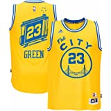 Draymond Green Golden State Warriors NBA Adidas Mens Gold Hardwood Classics Swingman Jersey