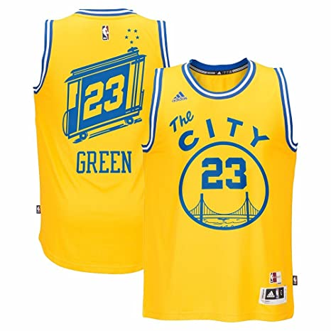 d376ed8b3 Draymond Green Golden State Warriors NBA Adidas Men s Gold Hardwood  Classics Swingman Jersey ...