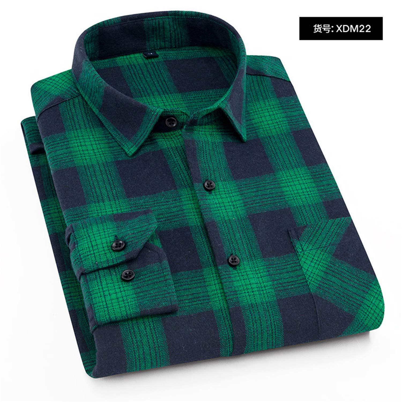 Plaid Shirt Winter Flannel Red Checkered Shirt Men Shirts Long Sleeve Male Check Shirts