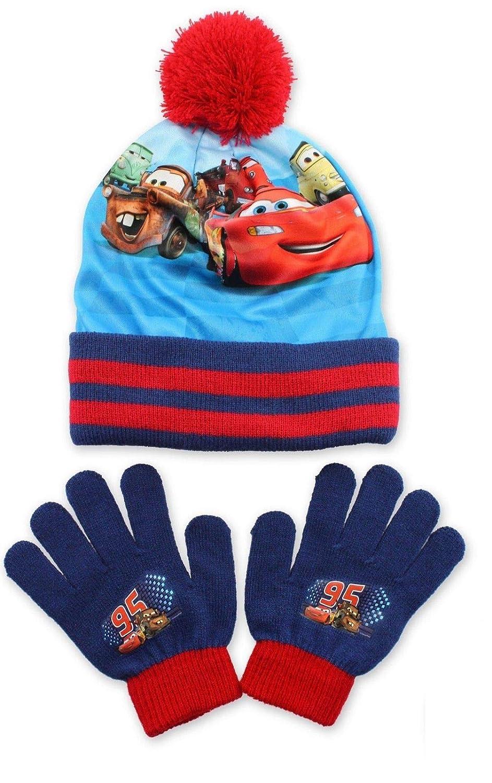 BOYS DISNEY CARS WINTER HAT /& GLOVE SET 3-7 YEARS
