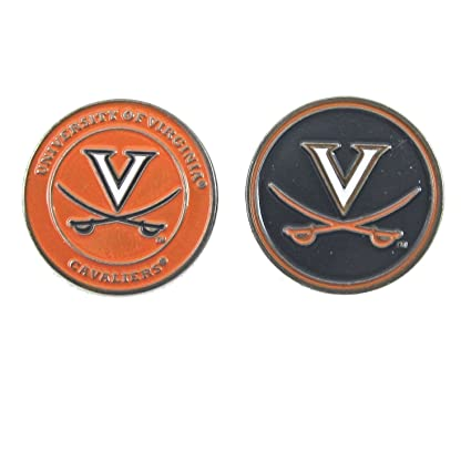 7c8fa764a3c Image Unavailable. Image not available for. Color  Virginia Cavaliers UVA Double  Sided Golf Ball Marker