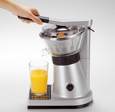 Krups Citrus Press ZX7000 - Exprimidor con tapa y clip para sujetar cítricos, 130 W de potencia y filtro de pulpa de inox, compatible con lavavajillas ...