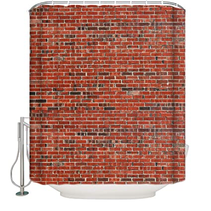 Image Unavailable Not Available For Color Vintage Red Brick Wall Shower Curtain