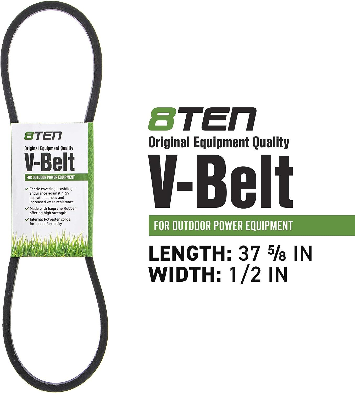 """1//2/"""" X 37 5//8/"""" V-Belt Replaces Cub Cadet 954-3084 Stens 265-804"""
