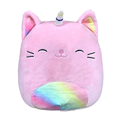 Squishmallow 8 Inch Sabrina The Pink Rainbow Caticorn Stuffed Animal, Super Pillow Soft Plush Toy: Toys & Games