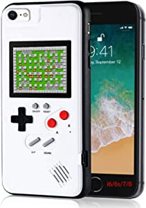 Gameboy Phone Case for iPhone, Handheld Retro Video Game Console Compatible with iPhone 6/6s/7/8, 4.7-Inch iPhone 6/6s/7/8