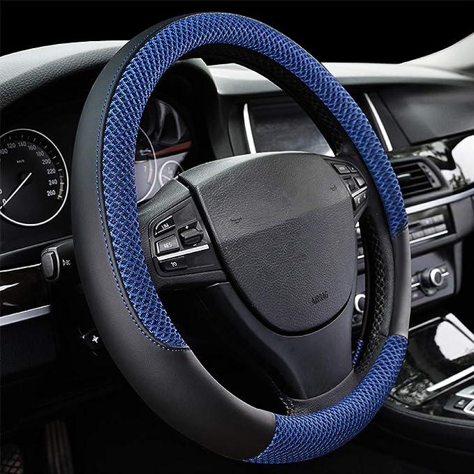 38cm// 15/'/' Natural Fibers Car SUV Truck Steering Wheel Cover Anti-Slip Wrap US