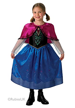a2322c6966224a Girls Frozen Anna Deluxe Fancy Dress Costume Plus Cape Size Small Ages (3-4